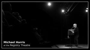 Michael Harris at the registry theatre B&W